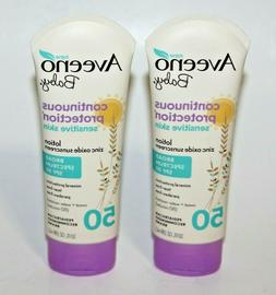 LOT  AVEENO BABY CONTINUOUS PROTECTION LOTION SUNSCREEN SPF
