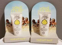 Lot of 2! Baby Bum Mineral Sunscreen Lotion SPF 50, Travel T