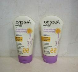 AVEENO  BABY CONTINUOUS PROTECTION LOTION SUNSCREEN SPF 55 4