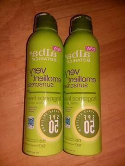 Lot of 2 Alba Botanica Sunscreen Fragrance Free SPF 50