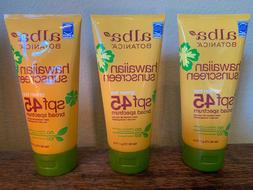 LOT OF 3 Alba Botanica Hawaiian Sunscreen Green Tea SPF 45