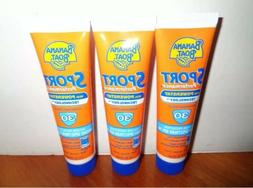 LOT of 3 BANANA BOAT SPF 30 SUNSCREEN LOTION SPORT POWERSTAY