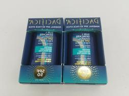 PACIFICA MINERAL SPF 50 FACE STICK O.6 OZ  Lot of 2 Made in
