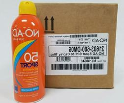 NO-AD Continuous Spray Sunscreen SPF 50 Sport 10 oz 80 Minut