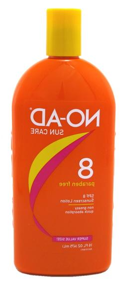 NO-AD SPF#08 TANNING LOTION 16 Ounce