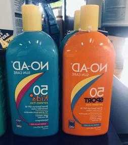 No-Ad Sunscreen 50 Sport And 50 Kids - Package of 2