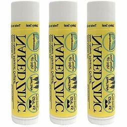 Non-Nano Zinc Lip Balm Sunscreen SPF 15  Pack Of 3 Reef Safe