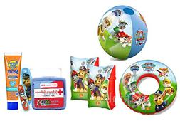 """Safety First"" Paw Patrol 5pc Pool Ready Set! Swim Ring, Arm"