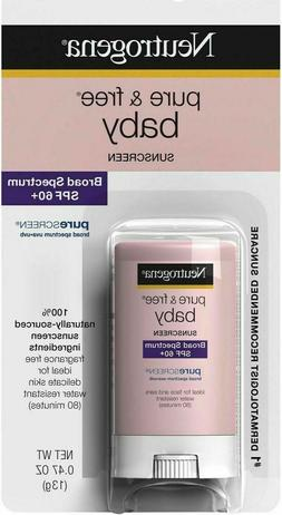 Neutrogena Pure & Free Baby Mineral Sunscreen Stick SPF 60+