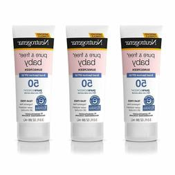 Neutrogena Pure  Free Baby Mineral Sunscreen Lotion With Bro