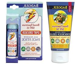 Badger SPF30 Lavender Sunscreen and SPF35 Sport Sunscreen Fa