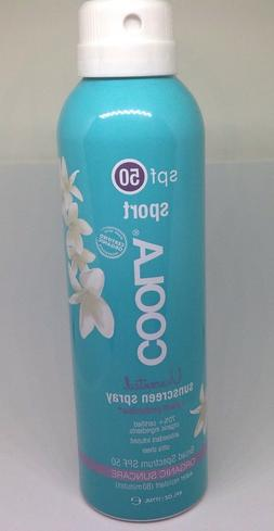 COOLA SALE SPF 50 SPORT UNSCENTED SUNSCREEN SPRAY 6oz ORGANI