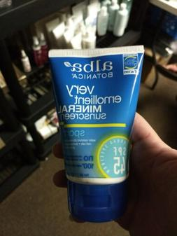 ALBA BOTANICA SPORT MINERAL SUNSCREEN FRAGRANCE FREE LOTION