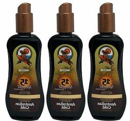 Australian Gold Spray Gel Sunscreen 3-Pack with Instant Bron