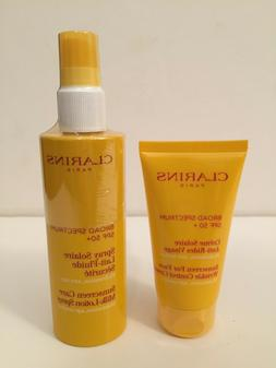 Clarins Sunscreen Care Milk-Lotion Spray or Sunscreen For Fa