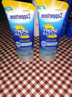 Coppertone Sunscreen Lotion Sport Clear SPF 50  Water Resist