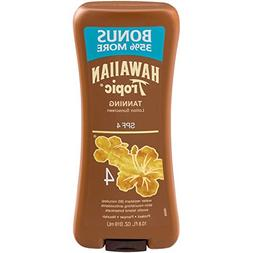 Hawaiian Tropic Tanning Lotion Sunscreen, SPF, 4, 10.8 fl oz