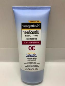Neutrogena Ultra Sheer Dry-Touch Sunblock Lotion Spf 30 ~Val